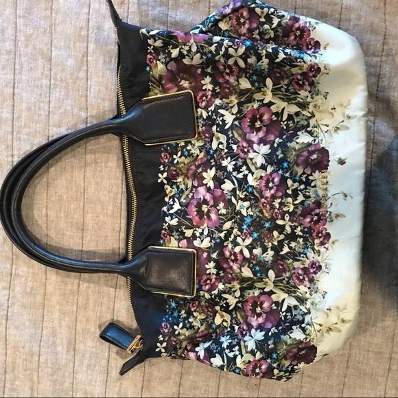 Ted Baker Handbags - Ted Baker Navy Flower Satchel